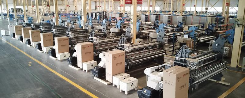 Air jet loom assembling workshop